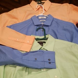 3 boys long sleeve dress shirts